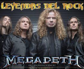 Leyendas del Rock: Megadeth confirmados