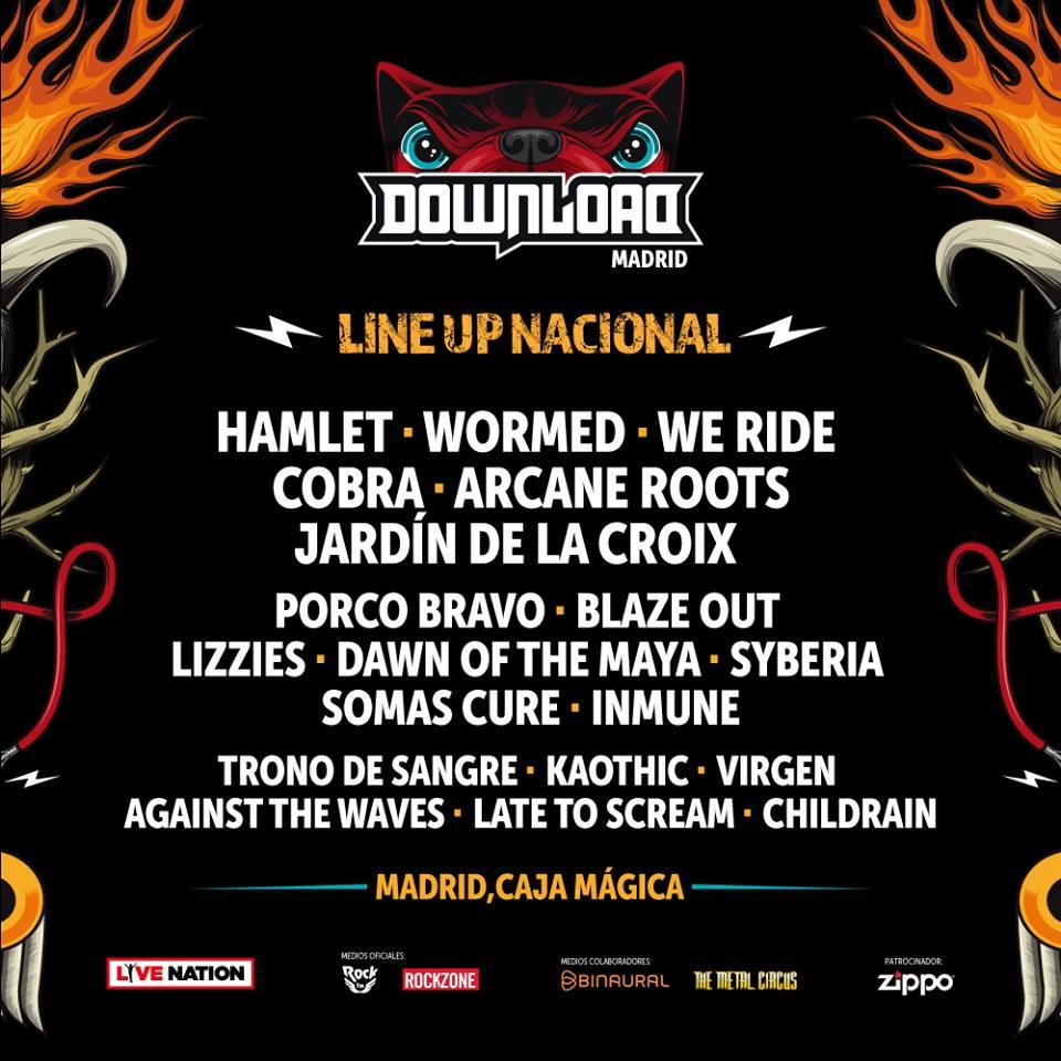confirmaciones download festival nacionales