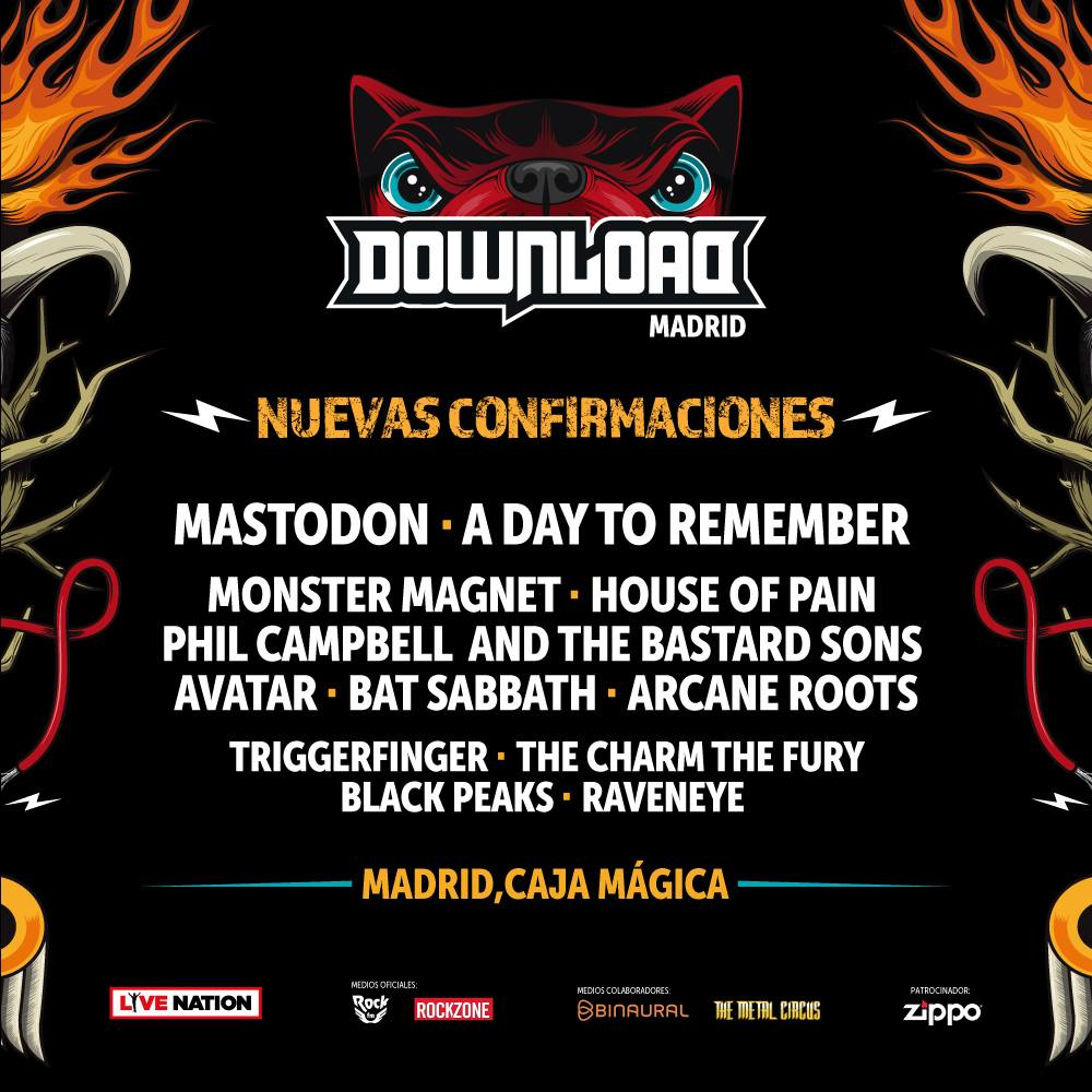 confirmaciones download festival madrid
