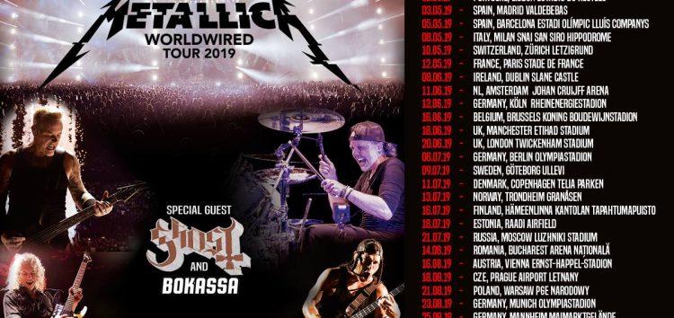 Metallica y Ghost en España en 2019