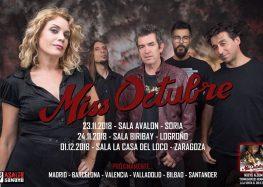 Teloneros de Miss Octubre en Zaragoza